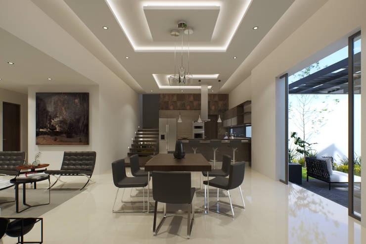 غرفة السفرة تنفيذ GYVA Studio