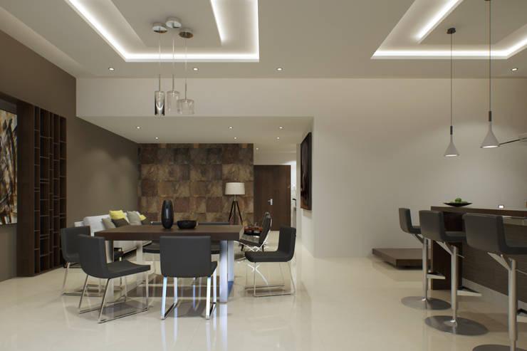 Minimalist dining room by GYVA Studio Minimalist