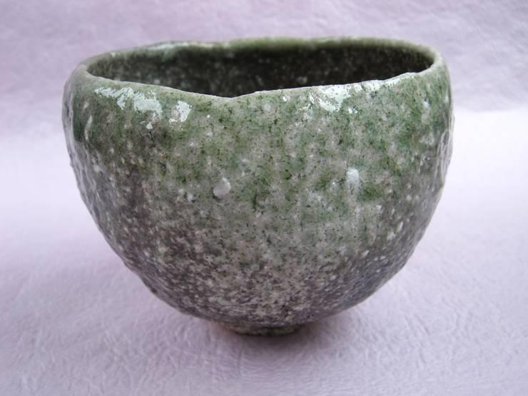 """抹茶茶碗 """"繭"""": 安藤志保子が手掛けたアジア人です。,和風 陶器"""