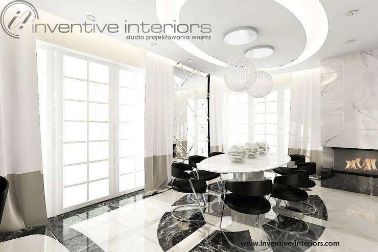 Lampy nad stołem: styl , w kategorii Jadalnia zaprojektowany przez Inventive Interiors