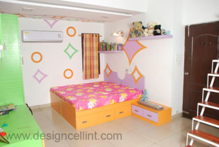 Bedroom Designs:  Nursery/kid's room by Design Cell Int
