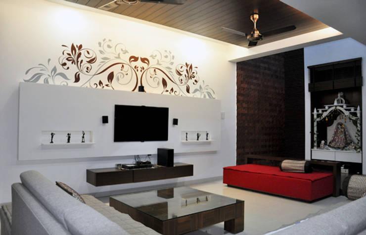 Living Room Graphics: modern Living room by BION Creations Pvt. Ltd.
