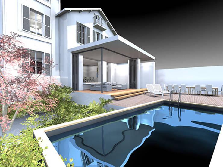 Villa Bre&Cas: Piscines  de style  par Y architecture