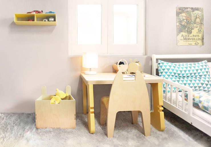 Chat Botté (샤보떼 유아 테이블): Banana Yolk의  아이 방