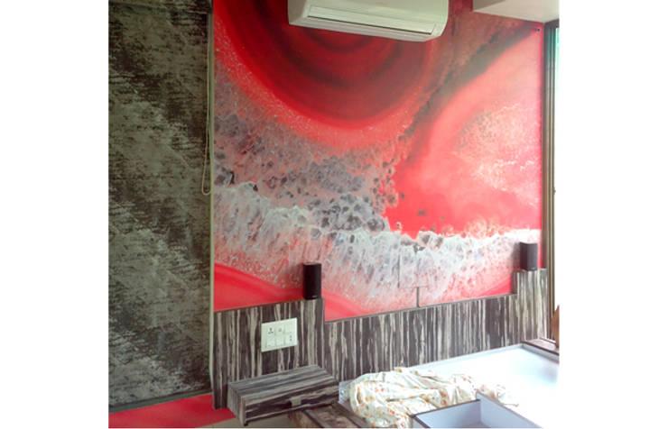Bedroom Graphics: modern Bedroom by BION Creations Pvt. Ltd.