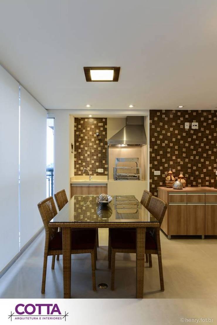 Apartamento 184m²: Salas de jantar  por Cotta Arquitetura e Interiores