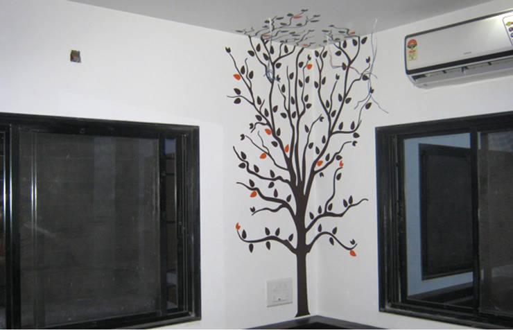 Bedroom Graphics:  Bedroom by BION Creations Pvt. Ltd.