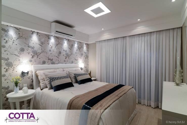 Apartamento 184m²: Quartos  por Cotta Arquitetura e Interiores