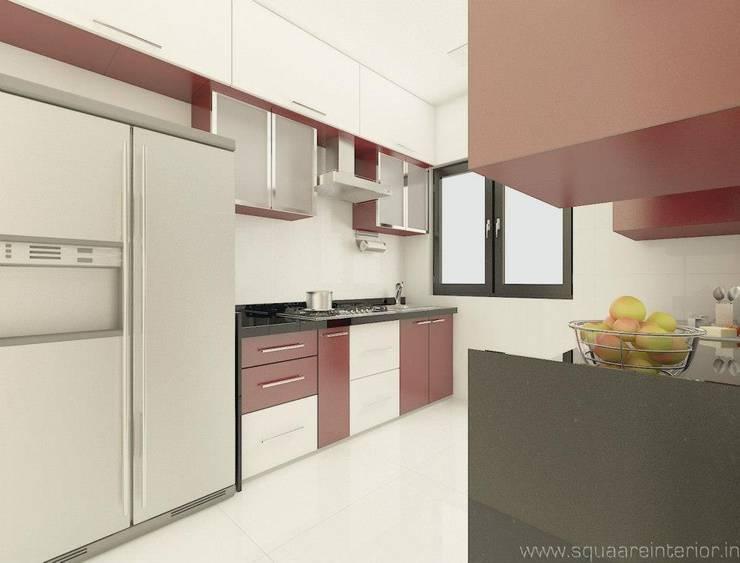 Rustomjee, Thane: modern Kitchen by suneil