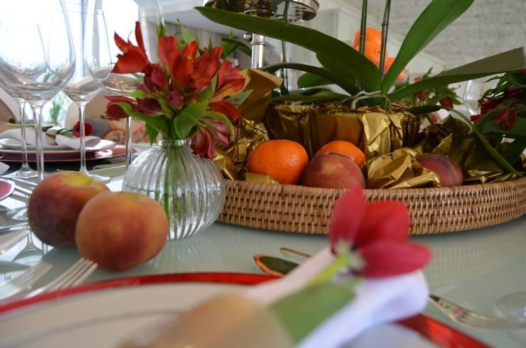 Casa KV: Sala de jantar  por Renata Matos Arquitetura & Business