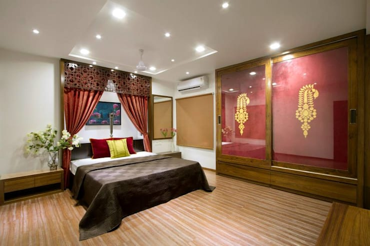 Sandeep Gandhi Bungalow: modern Bedroom by P & D Associates