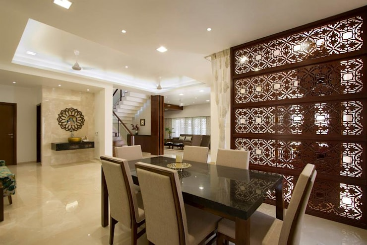 Mr. Sanjay patel—Bungalow: modern Dining room by P & D Associates