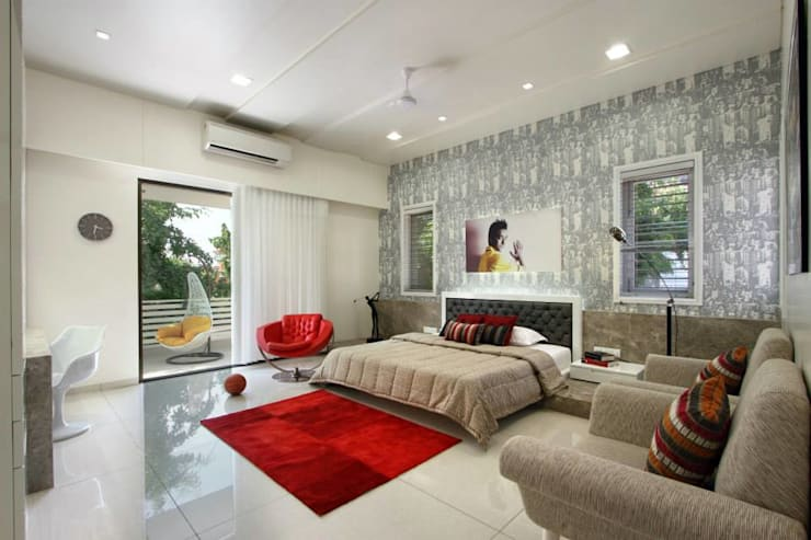 Mr.nailesh shah bungalow: modern Bedroom by P & D Associates