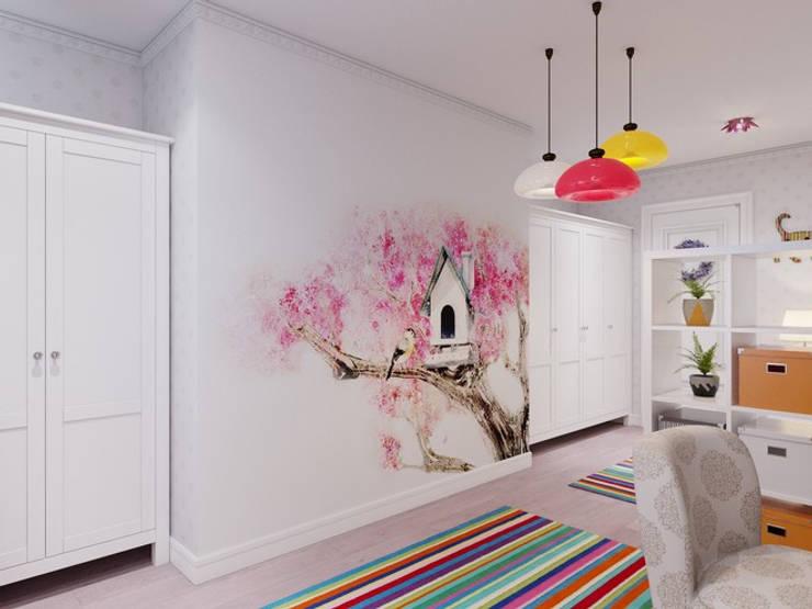 Квартира в классическом стиле, ЖК «Московский квартал», 80 кв.м. Детская комнатa в классическом стиле от Студия дизайна интерьера Маши Марченко Классический