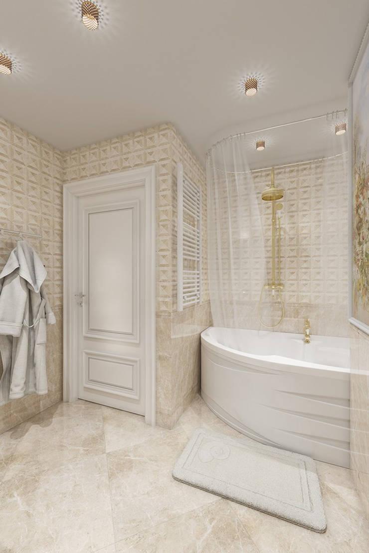 Квартира в классическом стиле, ЖК «Московский квартал», 80 кв.м. Ванная в классическом стиле от Студия дизайна интерьера Маши Марченко Классический