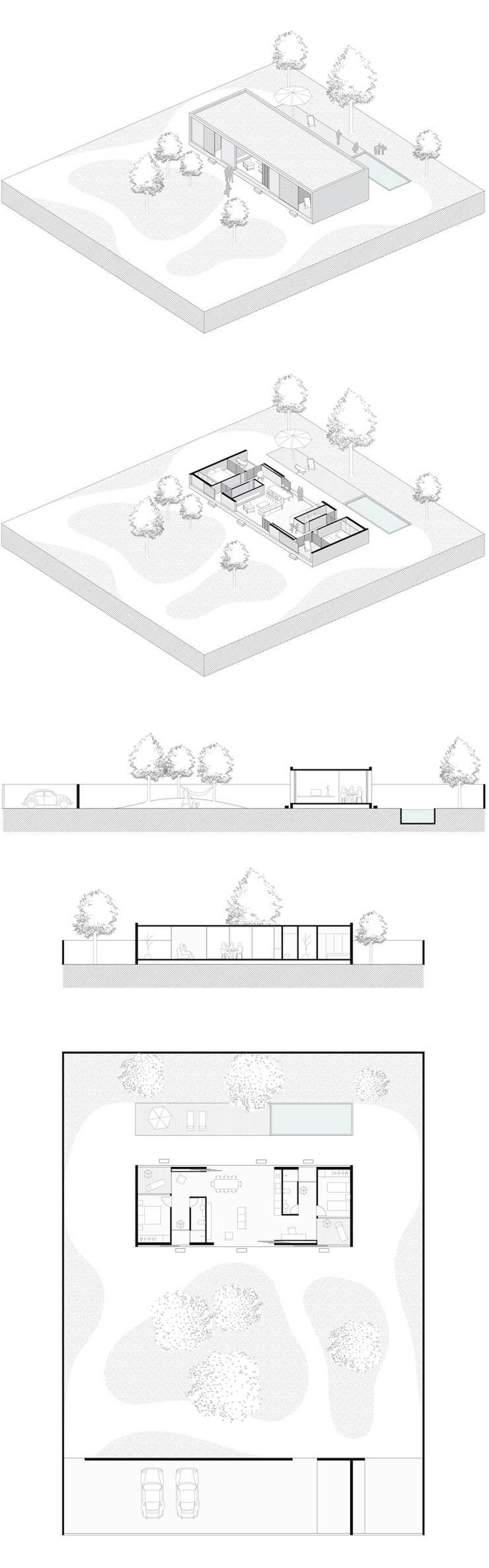 Casa de Peruibe - Projeto:   por INÁ Arquitetura