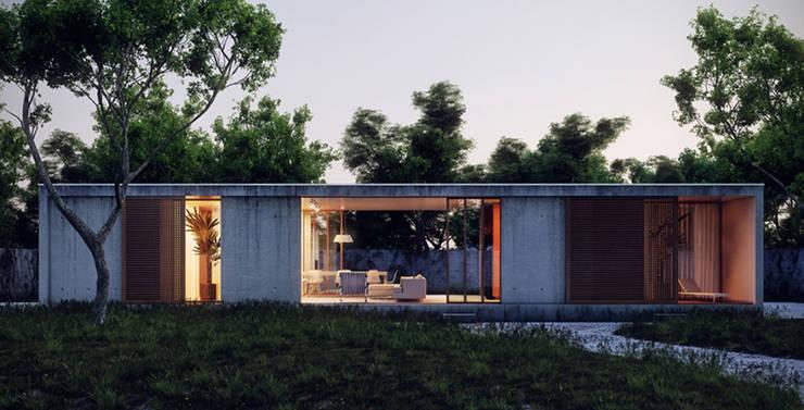 Casa de Peruibe - Fachada:   por INÁ Arquitetura