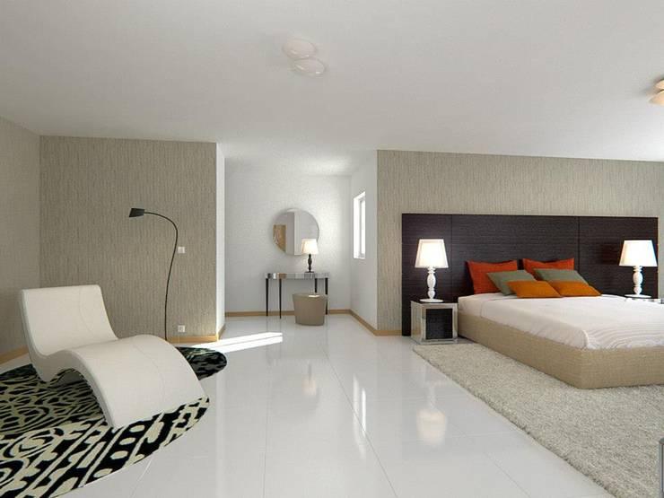 Quartos e Suites: Quartos  por Baobart Arquitetura e Design
