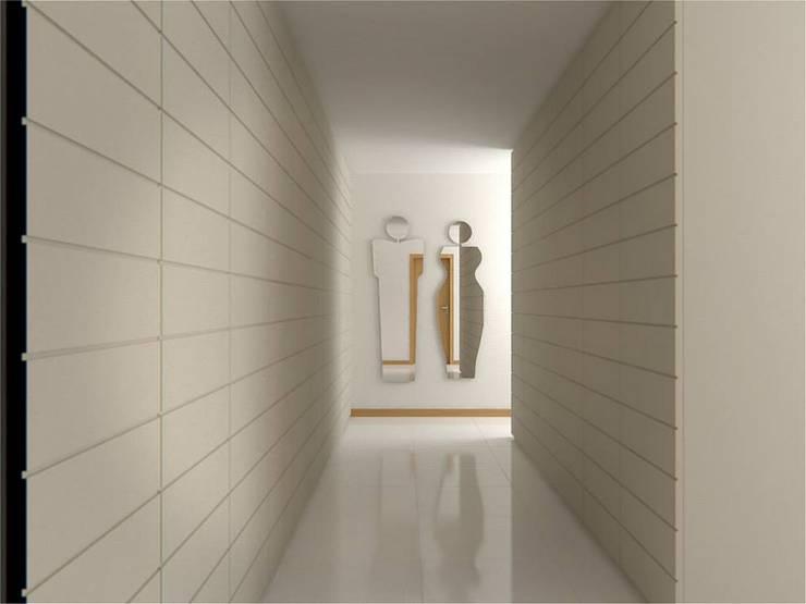 Quartos e Suites: Corredores e halls de entrada  por Baobart Arquitetura e Design