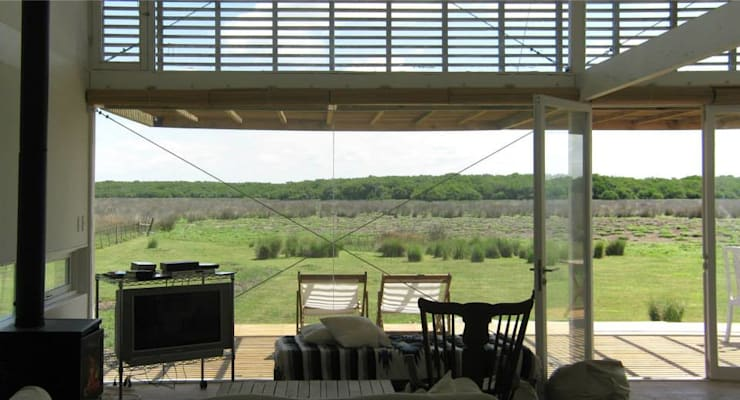 CASA LAGUNA EL ROSARIO: Terrazas de estilo  por Frias+Tomchinsky Arquitectos