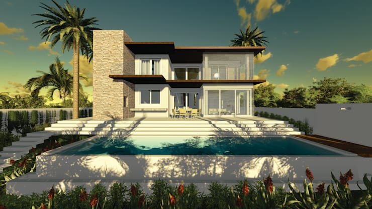 Casa MM: Casas  por Renata Matos Arquitetura & Business,