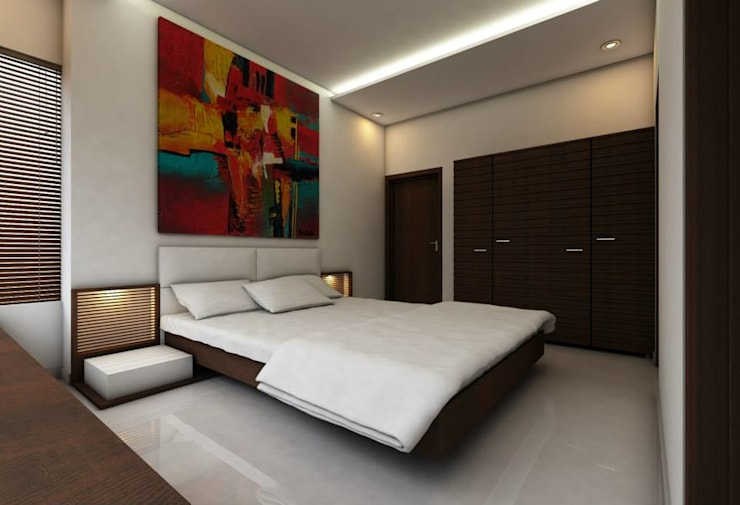 LalMun Apartment: modern Bedroom by Errol Reubens Associates