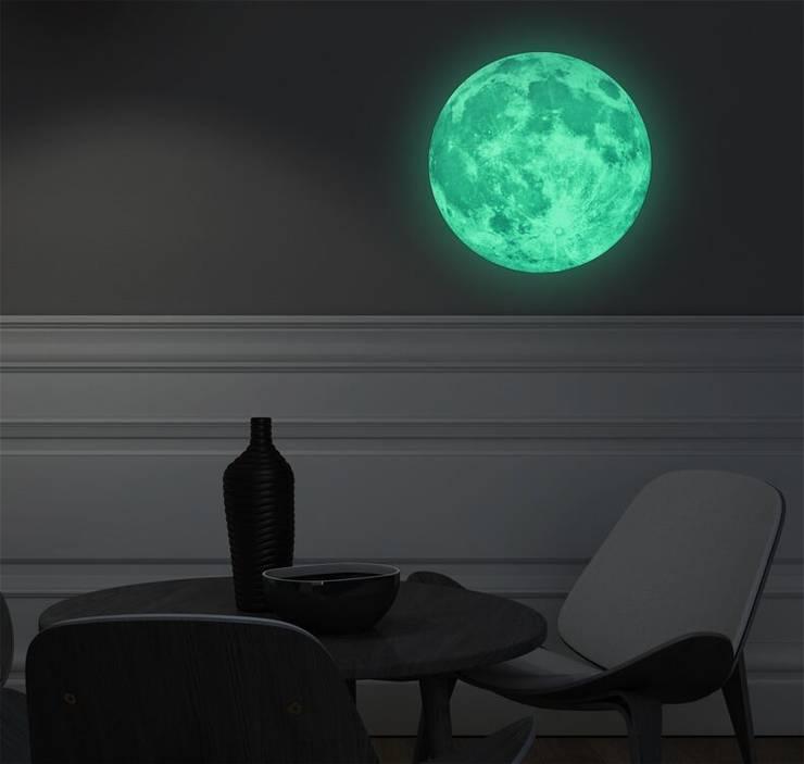 Sticker Lune phosphorescente : Chambre d'enfants de style  par Ambiance Live Group