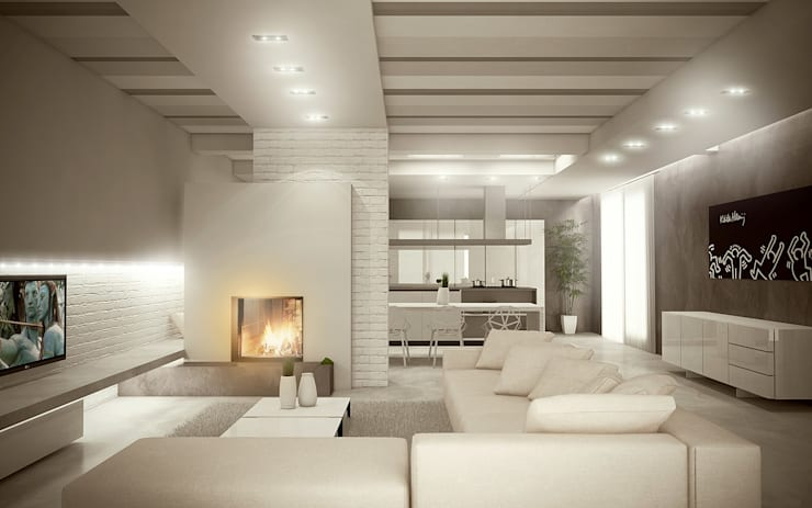 Salas de estilo  por Giuseppe DE DONNO - architetto