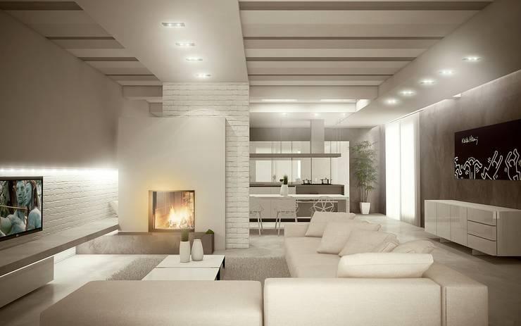 Living room by Giuseppe DE DONNO - architetto