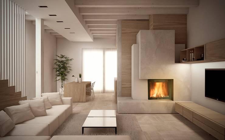 modern Living room by Giuseppe DE DONNO - architetto