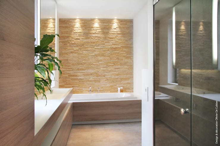 Projekty,  Łazienka zaprojektowane przez Olivier De Cubber - Architecture d'intérieur, design & décoration