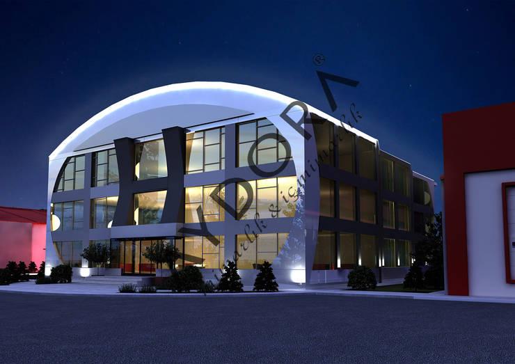 AYDORA MİMARLIK & İÇ MİMARLIK – CEHA YÖNETİM BİNASI VE FABRİKA PROJESİ: modern tarz Evler