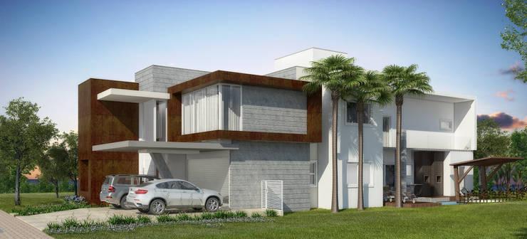 Casa JL: Casas  por Renata Matos Arquitetura & Business