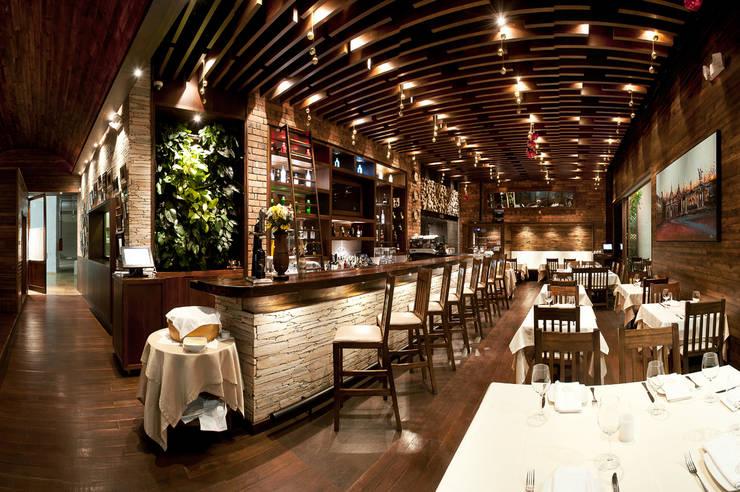 Volare Ristorante: Locales gastronómicos de estilo  por Plasma Nodo, Moderno