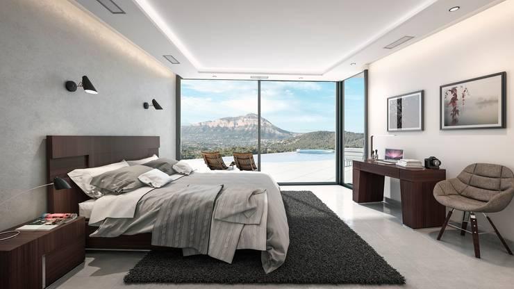 Villa Siro: moderne Schlafzimmer von Miralbó Excellence