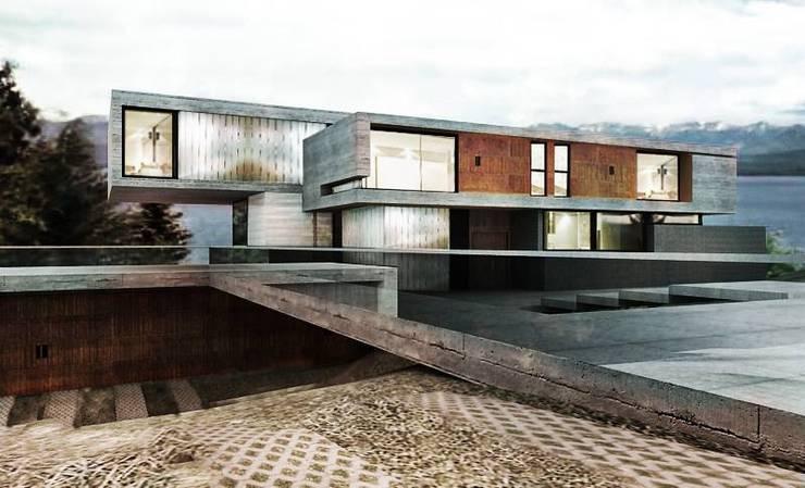Casa MP: Casas de estilo  por Bocco Bentancourt