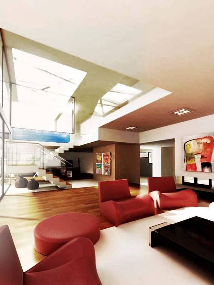 Casa MP: Livings de estilo  por Bocco Bentancourt