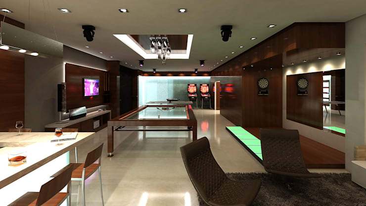 Quinta Pichiluna: Salas / recibidores de estilo moderno por NOGARQ C.A.