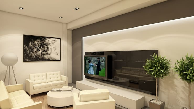 Villa Penélope: Salas / recibidores de estilo  por NOGARQ C.A.