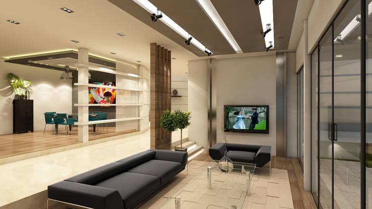 Salas / recibidores de estilo  por NOGARQ C.A.