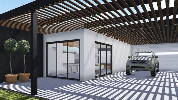 Proyecto Quincho en Las Rosas: Terrazas de estilo  por ARBOL Arquitectos ,