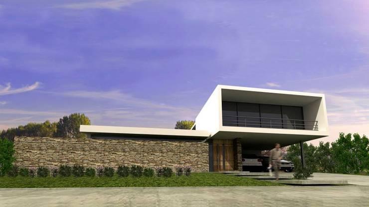 Vivienda en La Cascada Casas modernas: Ideas, imágenes y decoración de Oviedo Serrano Arquitectos Moderno