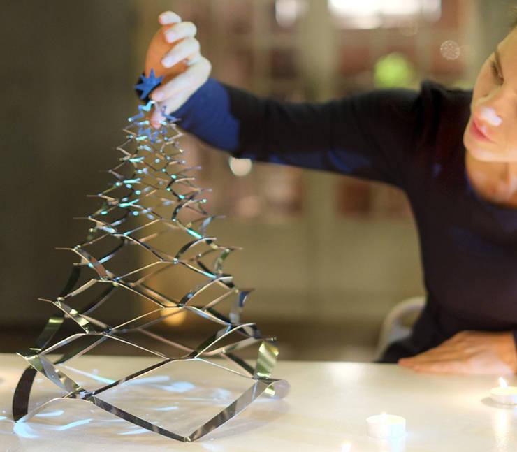 GRANN - Petit Modèle - L'arbre de Noël en acier Inoxydable: Maison de style  par Le monde de Sofia