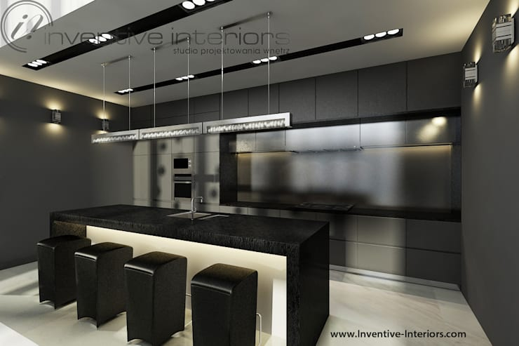 Szara kuchnia: styl , w kategorii Kuchnia zaprojektowany przez Inventive Interiors