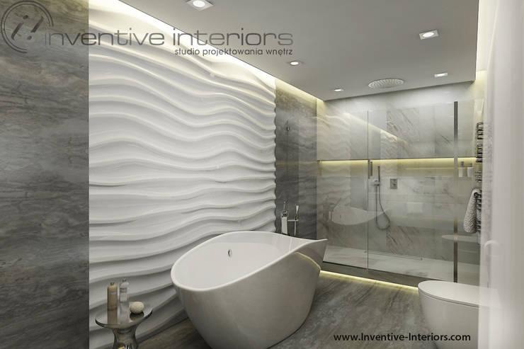 Szara łazienka: styl , w kategorii Łazienka zaprojektowany przez Inventive Interiors