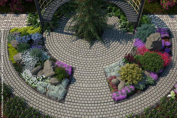 Jardines de estilo  por Мастерская ландшафта Дмитрия Бородавкина