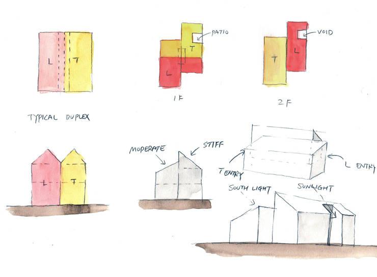 TIMBER DUPLEX 1 (중목구조 땅콩집 1): min workshop의