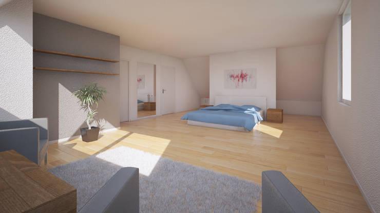 Woonhuis APOR Mierlo :  Slaapkamer door 2architecten