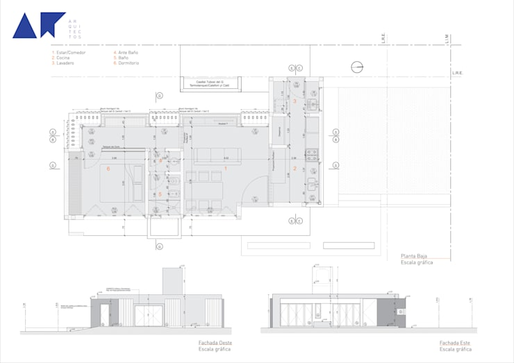 casa ZR: Casas de estilo  por AR   arquitectos