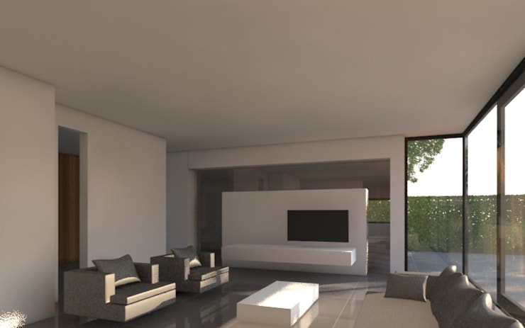 Villa JDSC Eindhoven :  Woonkamer door 2architecten, Modern